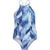 Seafolly Indie Dreamer High Neck Tank One-Piece Swimsuit - Girls'