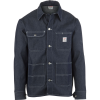 Pointer Brand Indigo Denim Raw Cone White Oak Chore Coat - Men's
