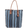 Will Leather Goods One Of A Kind North/South Indigo Tote Bag