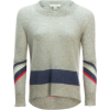 White + Warren Mesh Striped Crewneck Sweater - Women's