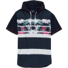 Overdrive Textured Knit Henley With Hood - Men's
