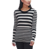 White + Warren Essential Stripe Crewneck Sweater - Women's