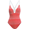 Seafolly Optic Wave Deep V Maillot One Piece Swimsuit - Women's