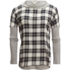Dylan Lauren Plaid Drop Shoulder Top - Women's