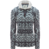 Dylan Patterned Frosty Tipped Pile Statium Pullover - Women's