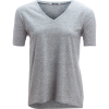 Monrow Spec Heather Oversized V-Neck - Women's