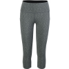 Vogo Activewear Heather Capri With Sport Mesh Pockets - Women's
