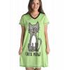 Check Meowt - Cat   V-neck Nightshirt (L/XL)
