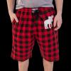 Moose Plaid | Men's Pajama Shorts (XS)