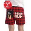 Bear Bum Plaid | Men's Funny Boxer (M)