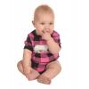 Bear Plaid Applique Pink | Infant Creeper Onesie (L)