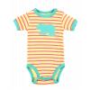Bear Stripe | Girl Infant Creeper Onesie (L)