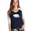 Bear Fair Isle   Women's Tall Tee (S)