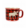 Moose Plaid Red | Ceramic Mug (MG140)