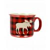 Moose Plaid Red | Ceramic Mug (MG140)