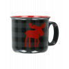 Moose Plaid Grey | Ceramic Mug (MG774)