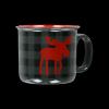 Moose Plaid Grey | Ceramic Mug (MG774)