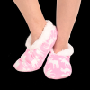 Classic Moose Pink | Fuzzy Feet Slippers (S/M)