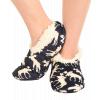 Classic Moose Blue | Fuzzy Feet Slipper (S/M)