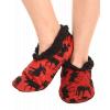 Classic Moose Red | Fuzzy Feet Slipper (L/XL)