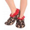 Chocolate Moose | Fuzzy Feet Slippers (L/XL)
