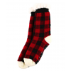 Red Plaid | Plush Socks (One Size)