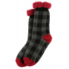 Grey Plaid | Plush Socks (One Size)