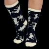 Blue Classic Moose | Crew Sock (One Size)