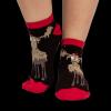 Chocolate Moose | Women's Slipper Sock (9-11)
