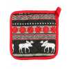 Moose Fair Isle Pot Holder (PH269)