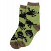 Bearly Awake | Green Kid Crew Sock (L)