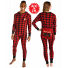 Bear Cheek Plaid | Adult Onesie Flapjack (L)