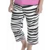 Catching Zzzz's - Zebra | Women's Capri (XS)