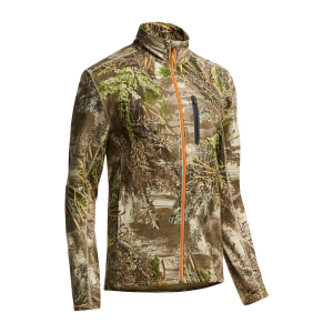 IceBreaker RealFLEECE Ika Long Sleeve Zip-Realtree Xtra/Orange-Large