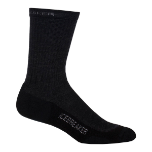 Icebreaker Hike Lite Crew Sock-Jet Melange/Nickle/Black-Small