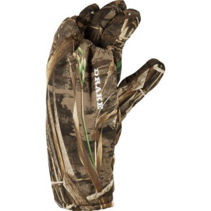 Drake LST Left Handed Caller's Waterfowl Glove-Realtree Max-5-Medium