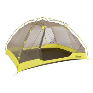Marmot Tungsten Ultralight 4 Person Tent-Dark Citron/Citronelle