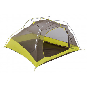 Marmot Bolt Ultralight 3 Person Tent-Dark Citron/Citronelle