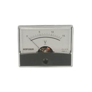 PANEL METER,ANALOG,DC VOLTAGE,