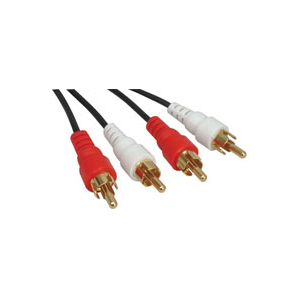 STEREO-2RCA MALE PLUGS TO 2RCA