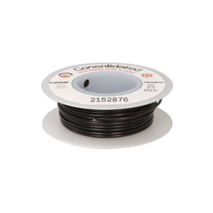 WIRE,22AWG,SOLID,BLACK,25'