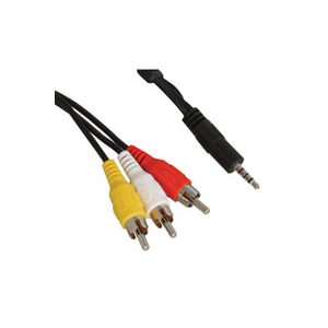 CABLE,A/V,3.5mm,M(4POLE)TO