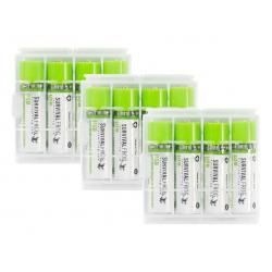 3 EASYPOWER(TM) USB RECHARGEABLE AA BATTERY PACKS + 2 CHARGING PORTS