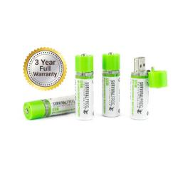 1 EASYPOWER(TM) USB RECHARGEABLE AA BATTERY PACK