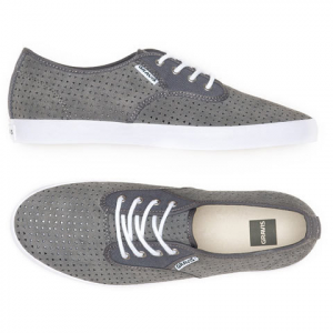 Gravis Slymz Suede Skate Shoes Pewter 8.0