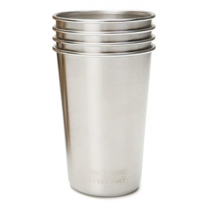 Klean Kanteen 16 oz. Pint Cups - 4 Pack Brushed Stainless 16oz