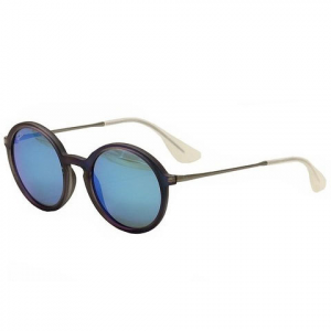 Ray-Ban Injected Man Sunglasses Rubber Shot Blue 50mm