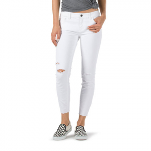 Vans Destructed Skinny Jean - Women's White