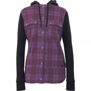 Armada Ruston Button-Up Hoody - Women's Bordeaux