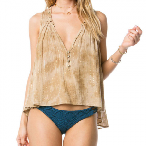 Amuse Society Marielle Woven Top - Women's Faded Olive